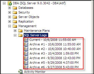 Default Log Files for SQL Server Databases
