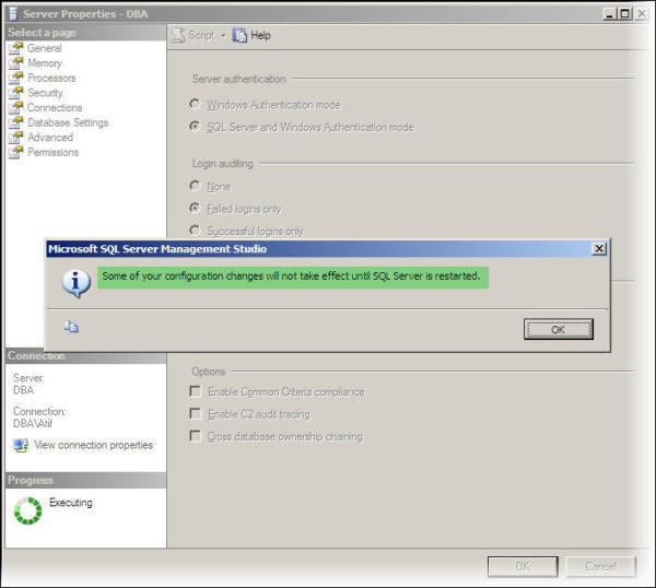 Configuration Change Confirmation