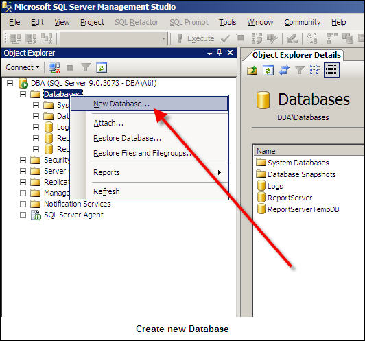 Create New Database-1