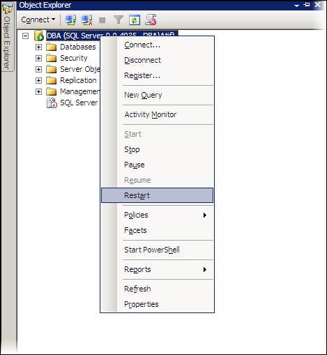 Restart SQL Server Instance Service