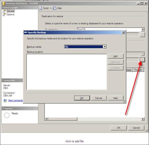 Restore SQL Server Database-3