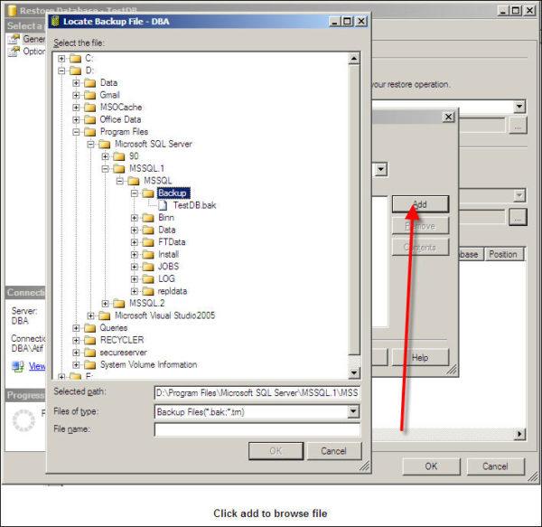 Restore SQL Server Database-4