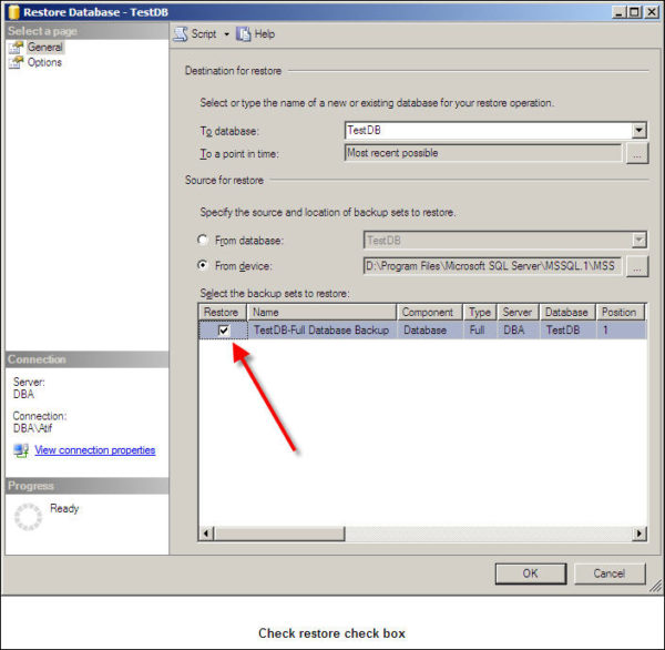 Restore SQL Server Database-6