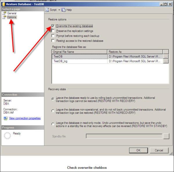 Restore SQL Server Database-7