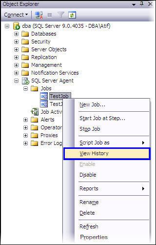 Get Details about failed job