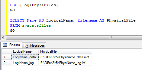 Get SQL Server files info through T-SQL