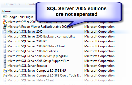 Uninstall SQL Server 2005 Express edition