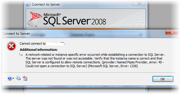 Not able to connect SQL Server 2008 on network