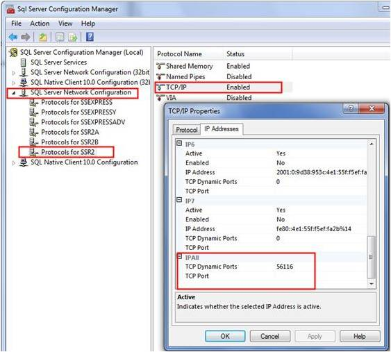 Identify SQL Server port through Configuration Manager