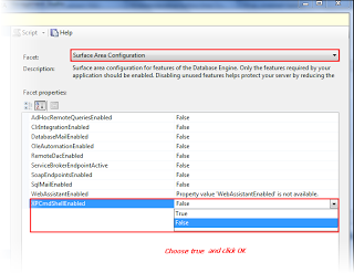 To enable Xp_CmdShell through SSMS GUI step 3
