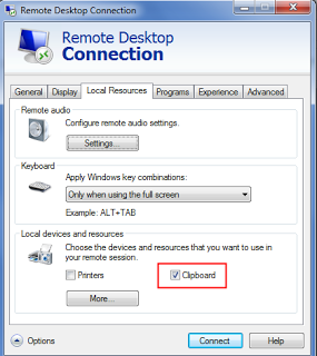 Data copy not working on remote desktop session