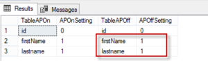 Match the ANSI_Padding setting of columns in two tables