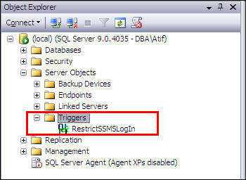 Restrict SQL Server login to connect from out side the